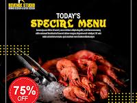 Free Template Food Menu and Restaurant Social Media Post - v4