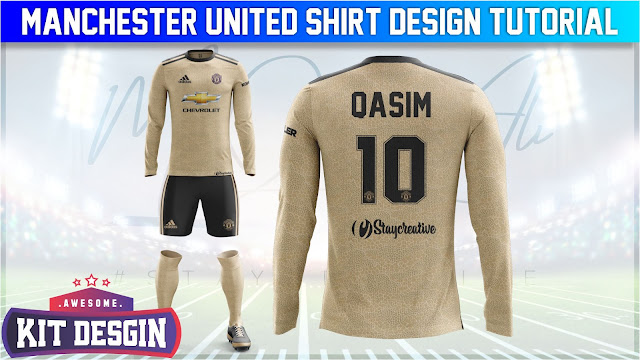 Manchester United Away Shirt Design in Photoshop cc 2019 by M Qasim Ali