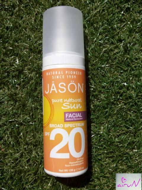 protector solar natural jasön