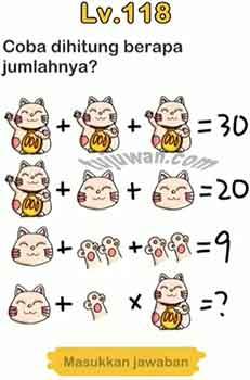 Jawaban Brain Out Level 118 Coba Hitung Berapa Jumlahnya