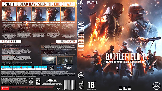 Capa Battlefield 1 PS4