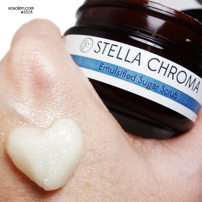 xoxoJen's swatch of Stella Chroma Sugar Scrub