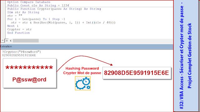 #32: VBA Access G.Stock- Sécuriser et Crypter mot de passe