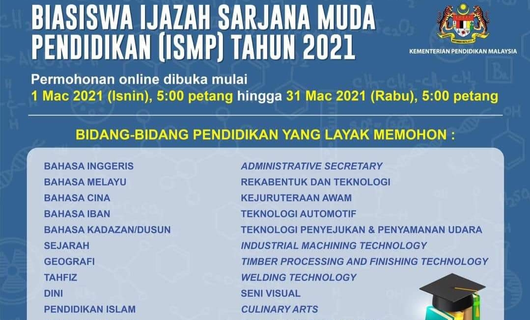 Permohonan Biasiswa ISMP 2021 Online (Semakan Keputusan)