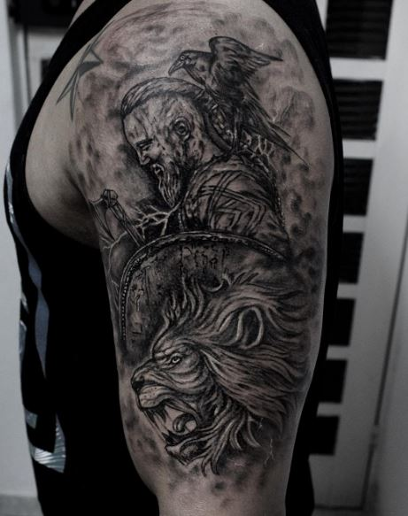 50 amazing vikings tattoos designs and ideas 2017 page for Did vikings have tattoos