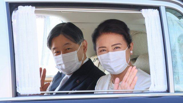 Emperor Naruhito, Empress Masako, Crown Prince Fumihito, Crown Princess Kiko, Princess Kako, Princess Mako