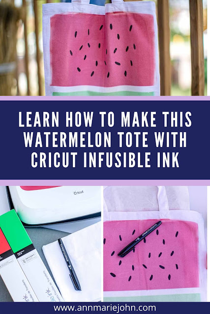Learn how to make this watermelon tote with Cricut Infusible Ink