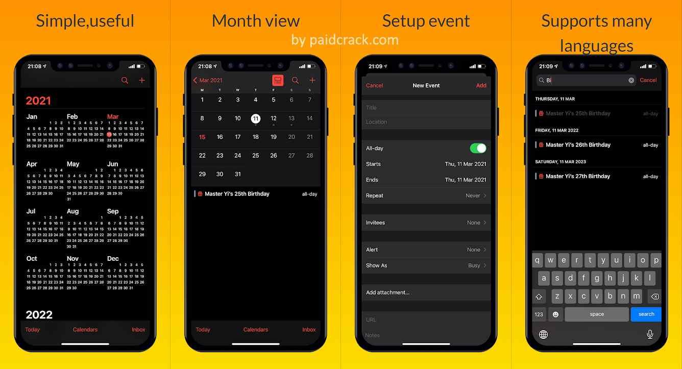 iCalendar - Calendar iOS style Pro Mod Apk 1.0.5