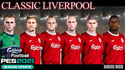 PES 2021 Classic FacePack Liverpool FC by Andri Mod