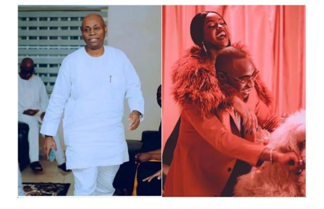 Davido's father reportedly assembles Davido and Chioma to settle their issues.