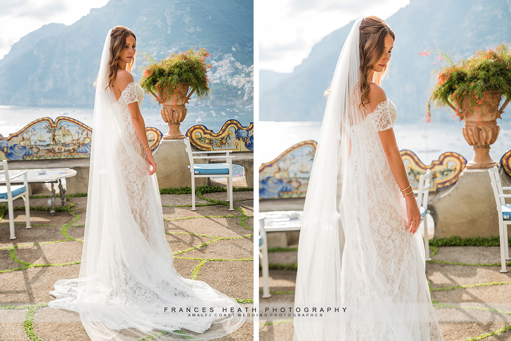 Bride portrait on San Pietro hotel terrace