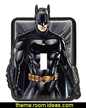 Justice League Batman Tin Metal Wall Light Switch/Plate