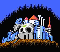 Captura del castillo de Wily en Mega Man 2 (Capcom, NES; 1988)