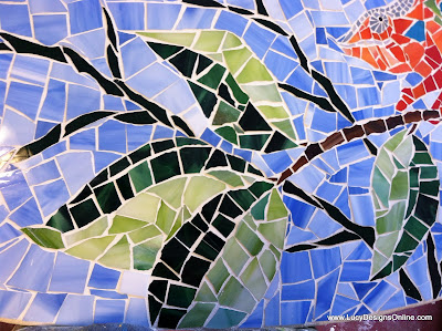 mosaic surfboard art Lucy Designs