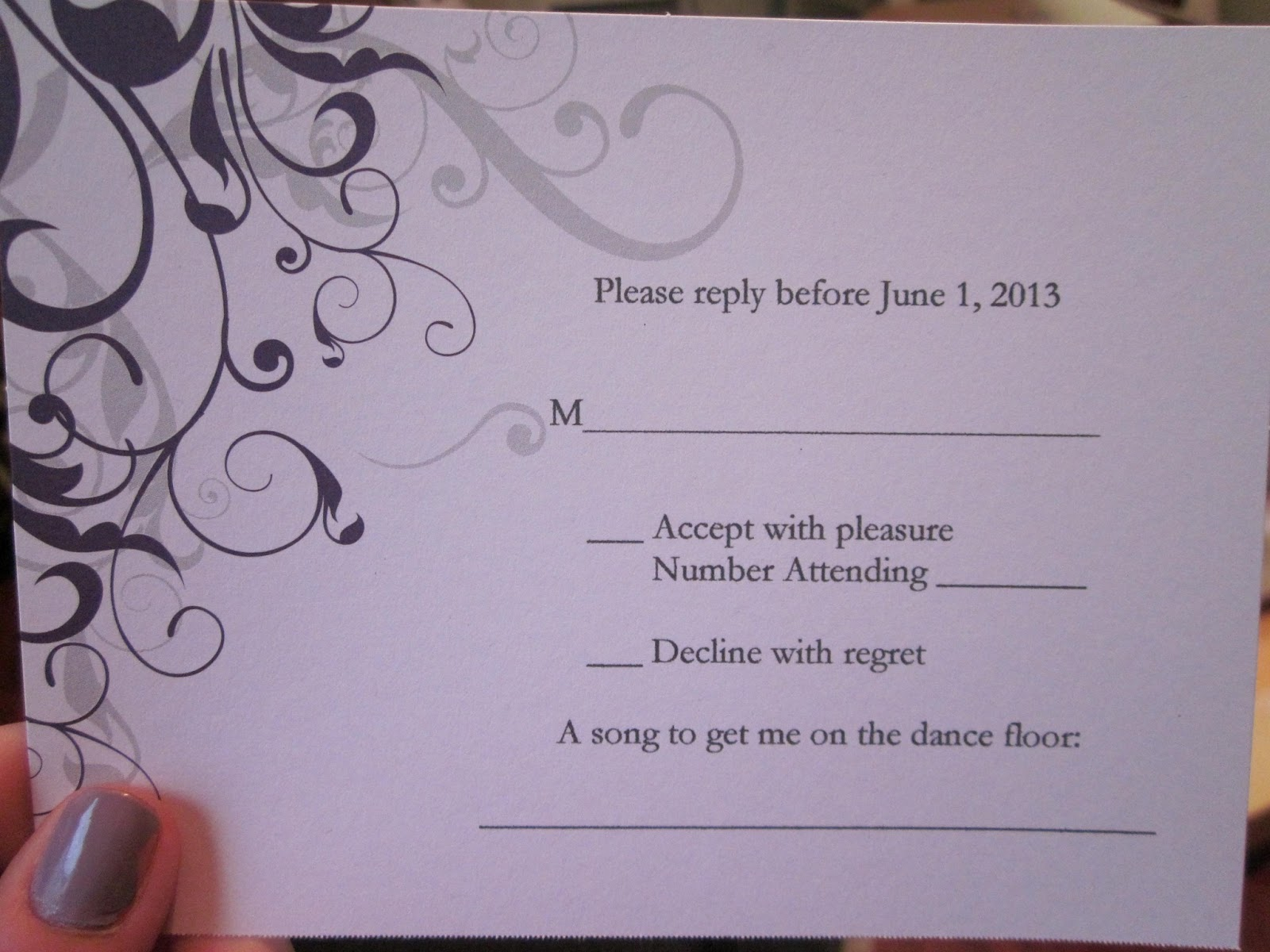 Wedding Reply Rsvp Cards