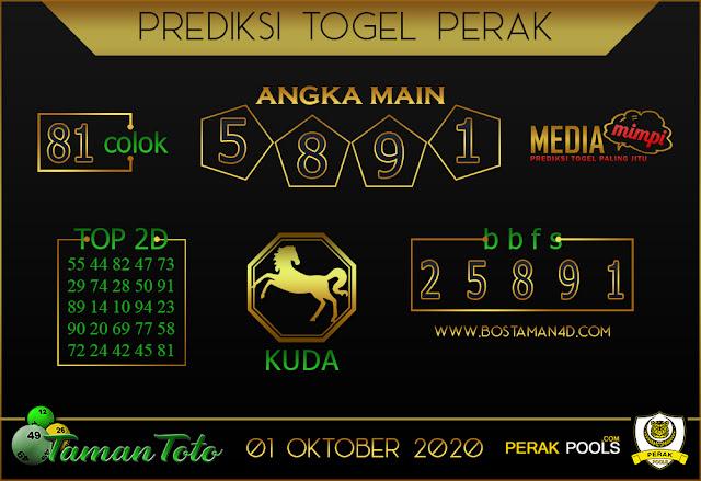 Prediksi Togel PERAK TAMAN TOTO 01 OKTOBER 2020