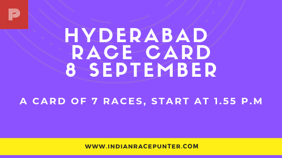 hyderabad Race Card, free indian horse racing tips, trackeagle,racingpulse