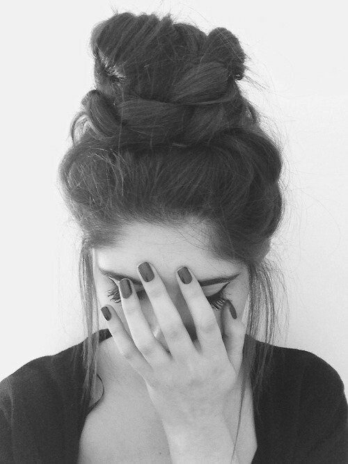 Cabello negro largo ondulado tumblr