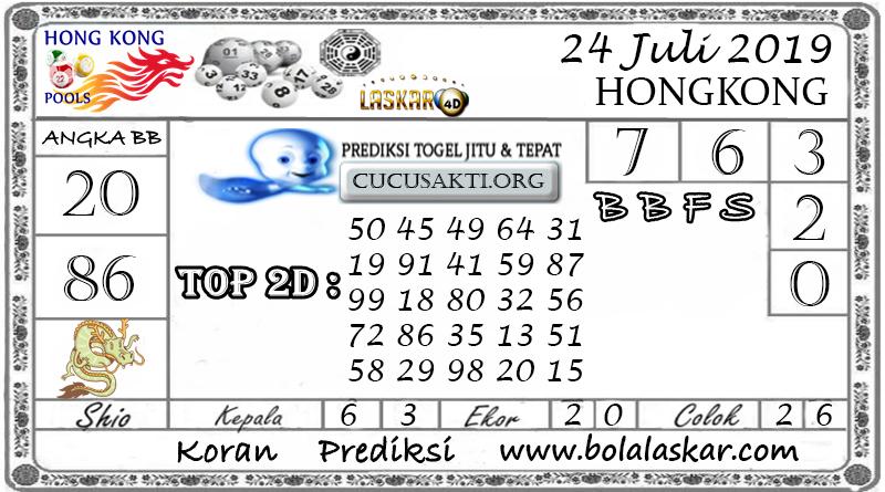 Prediksi Togel HONGKONG LASKAR4D 24 JULI 2019