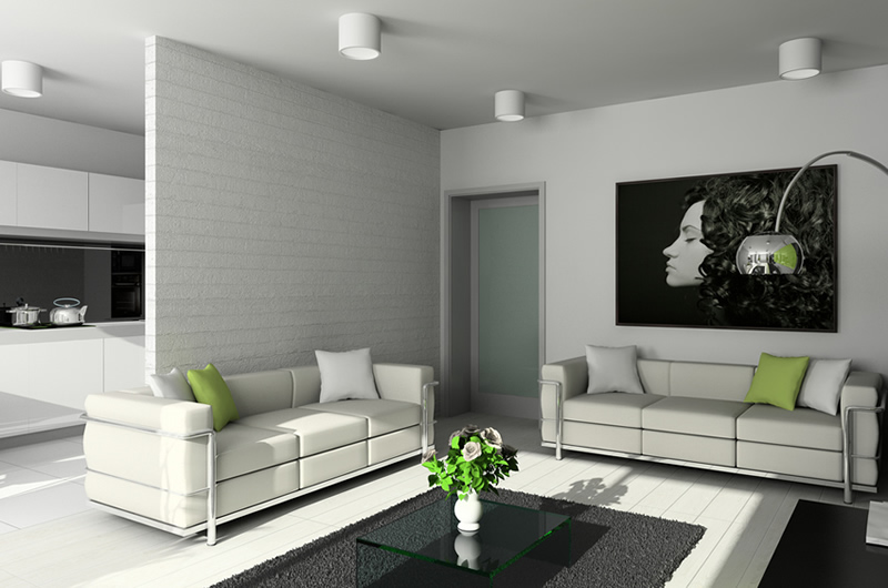 Top best Modern living room interior designs with white colour ...