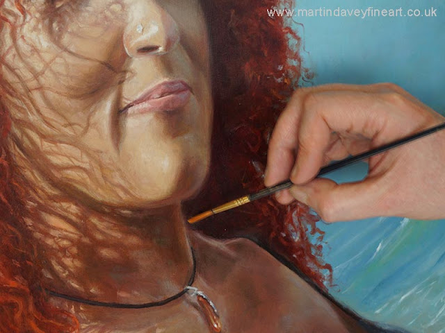 brushing fine painted details oil portrait