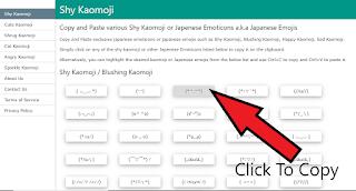 how to use shykaomoji