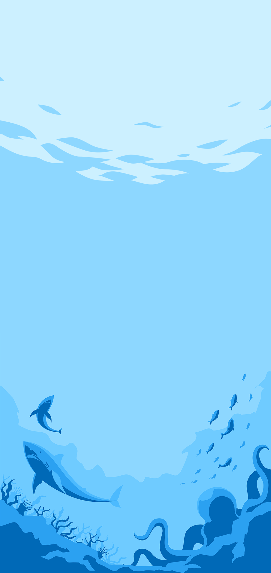sea fishes ocean blue wallpaper for mobile
