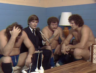 NWA Starrcade 83: A Flare for the Gold - Tony Schiavone hangs out with Harley Race, Bob Orton, and Dick Slater