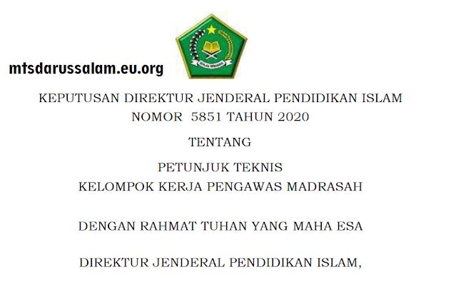 Juknis Pokjawas (Kelompok Kerja Pengawas) Madrasah Tahun 2020