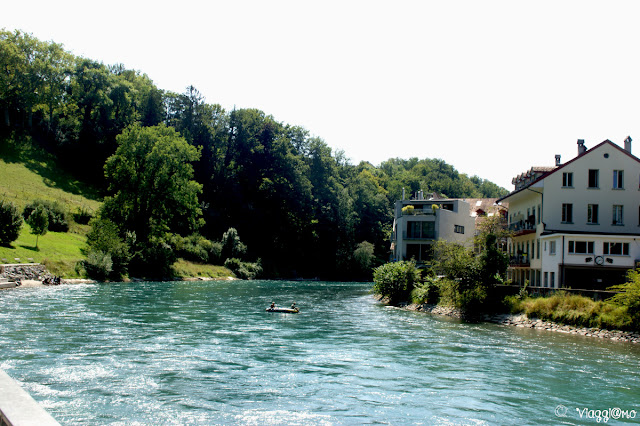 Il fiume Aare che avvolge Berna
