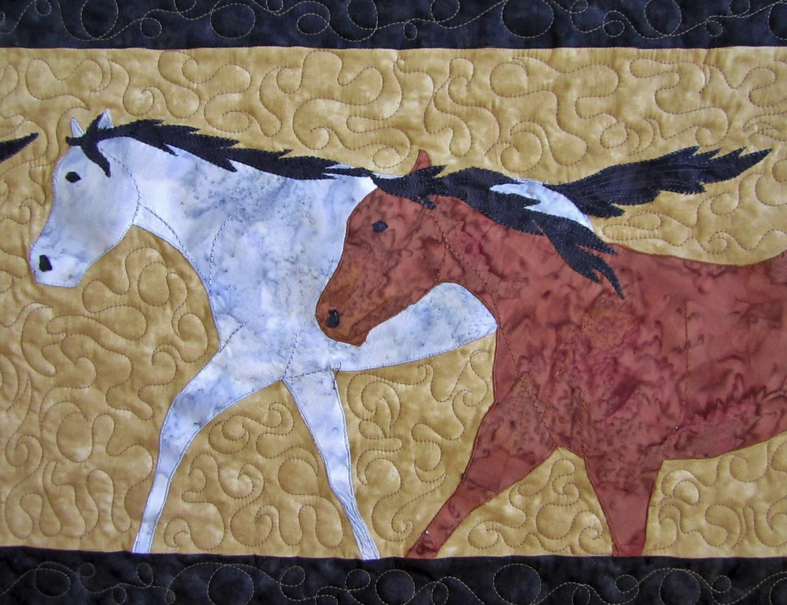 Roberta S Custom Quilting Horse Applique Quilt