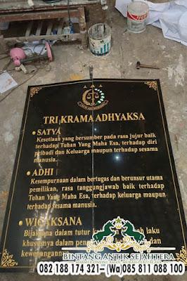 Nameboard Granit Alam Berkualitas, Papan Nama Kantor Desa