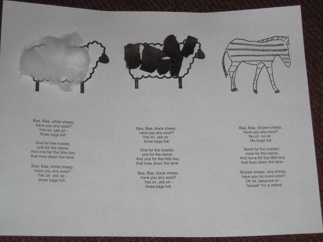 Preschool Storytime Crafts Baa Baa Black Sheep