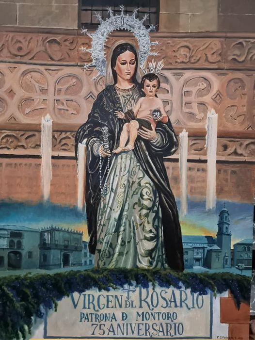 Cartel en honor a Ntra. Sra. Rosario y San Bartolomé, Patronos de Montoro 2021