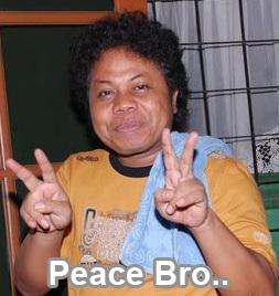 foto lucu budi anduk peace