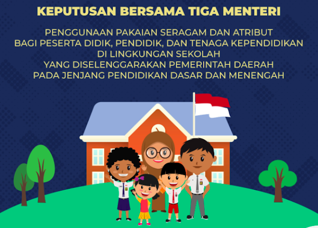 SKB 3 Menteri, Sekolah Negeri Dilarang Mewajibkan Penggunaan Atribut Agama