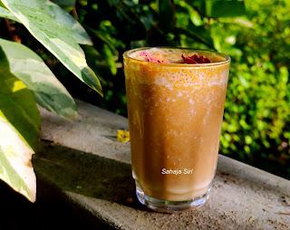 Eggfruit milkshake