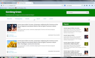 Template Blogger Gondang Green Responsive