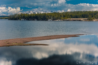 Cramer Imaging's quality landscape photograph of the West Thumb of Yellowstone Lake in Yellowstone National Park Wyoming