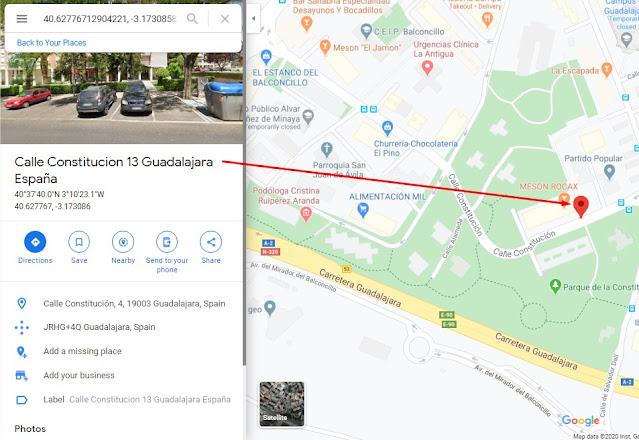 etiquetar lugares en google maps