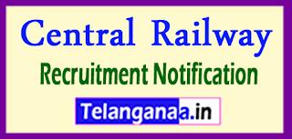 Central Railway Recruitment Notification 2017 Last Date 24-05-2017