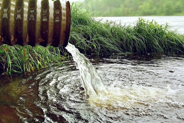 flow of waste water