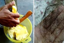 Rambut Rontok Berkurang, Ketombe Hilang, Rambut jadi Hitam Bercahaya, Hanya dengan Buah Nanas!
