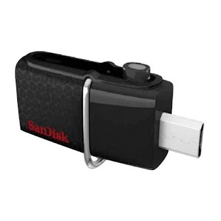 Sandisk dual drive 16GB transfer data cepat