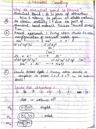 रसायन विज्ञान चैप्टरवाइज नोट्स (Chemical Bonding) : JEE and NEET परीक्षा हेतु पीडीएफ पुस्तक | Chemistry Chapterwise Notes (Chemical Bonding) : For JEE and NEET Exam PDF Book