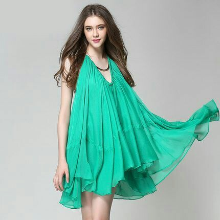 Green losse Dress