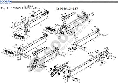 Đốt cần, xylanh ra vào cần của Cẩu soosan 8 tấn SCS866-SCS886-SCS887