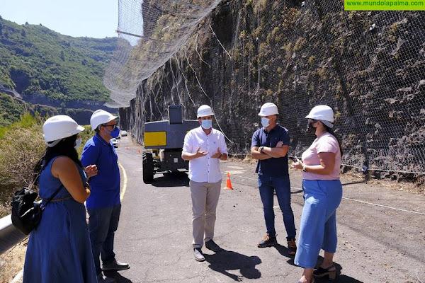 Rematan las obras de la carretera de Gallegos para poder reabrir la vía en las próximas semanas