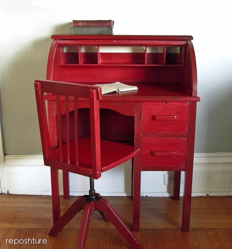 Reposhture Studio Childs Roll Top Desk