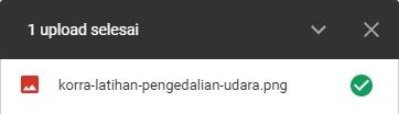Upload Berhasil - Cara Upload File ke Google Drive
